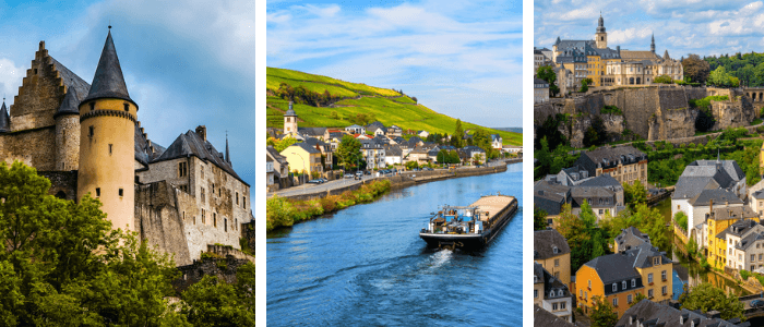Luxembourg for Kids: Vianden Castle - Moselle - Luxembourg City