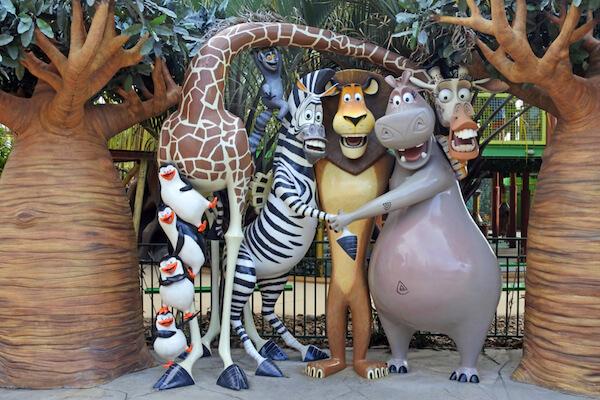 Madagascar characters in Disneyland Gold Coast