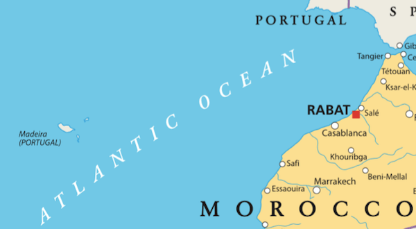 Location of Madeira Island on Map