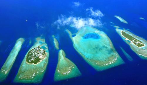 Atolls in the Inidan Ocean