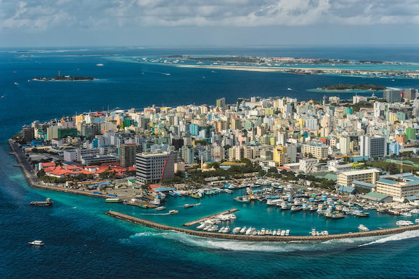 Malé in the Maldives - aerial