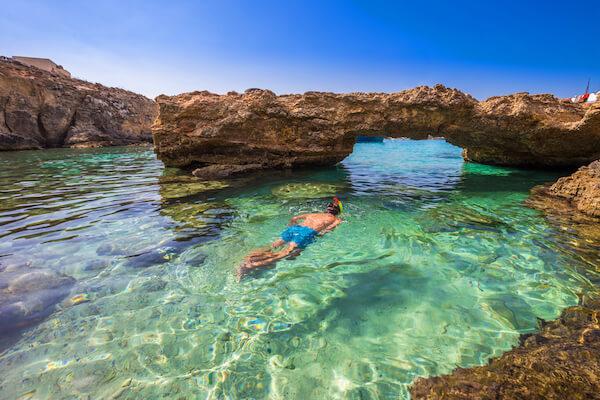 Malta's Blue Lagoon in Comino