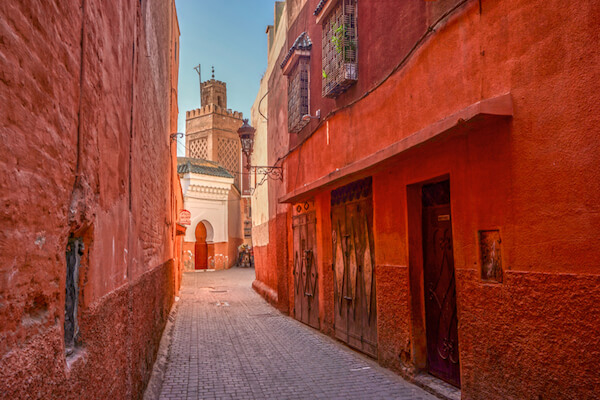 The 'Red City' of Marrakech in Morocco