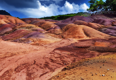 Coloured Earths in Chamarel Mauritius