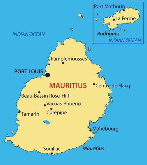 Mauritius Facts For Kids Indian Ocean Island Geography Travel - Mauritius location in world map