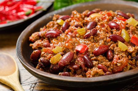 Chilli con Carne - typical Mexican Food