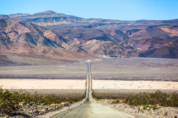 Mojave Desert's Panamint Valley Highway 190