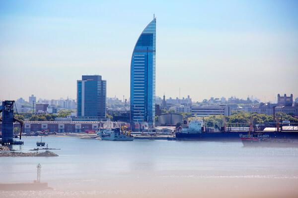 Uruguay's tallest building is Torre Antel in Montevideo - image by Galina Savina/shutterstock