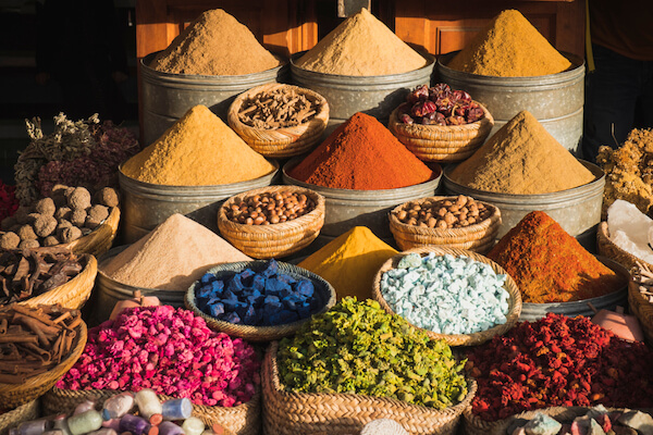 Spices at the Moroccan markets