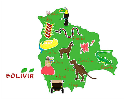 Bolivia Map Vector - from shutterstock