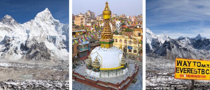 Nepal facts header: Kathmandu - Mount Everest