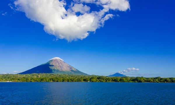 Lake Nicaragua with Isla de Ometepe