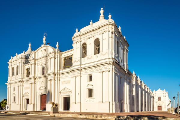 Cathedral Assumption of the Blessed Virgin Mary in León in Nicaragua
