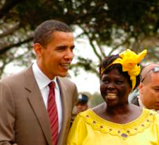 Obama and Maathai in Nairobi 2016 - image by Fredrick Onyango/wikicommons