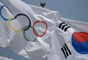 Olympic Flag in Korea - image by Anja Johnson