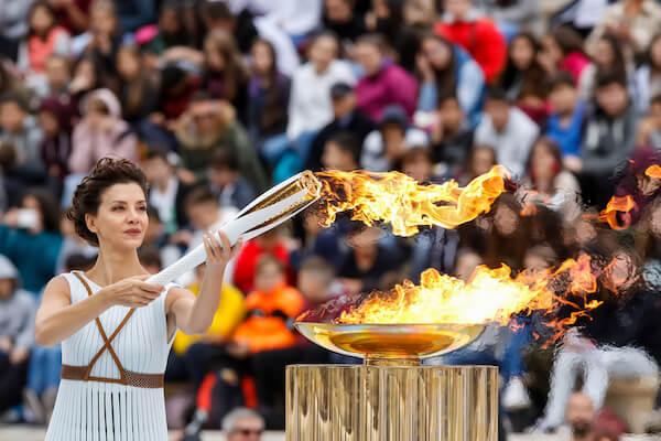 Lighting the Olympic Flame - image by Ververidis Vasilis