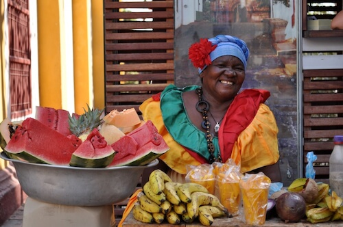 Colombian Palenquera selling fruits - image by Jobsstock/shutterstock.com