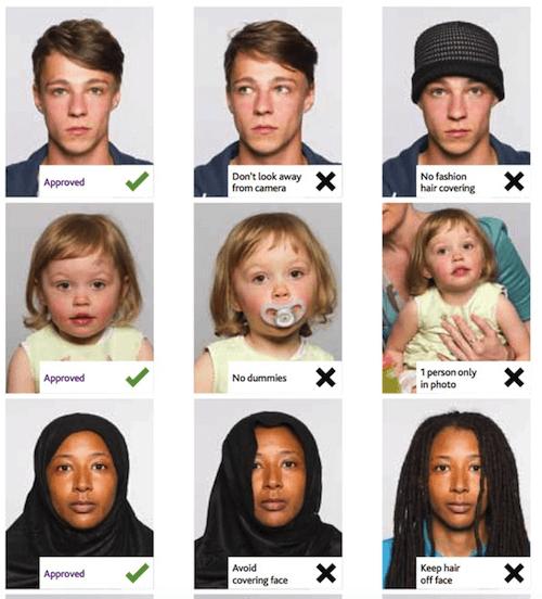 Passport photo requirements - UK passports