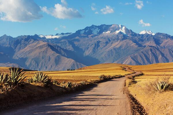 Andes landscape in Peru