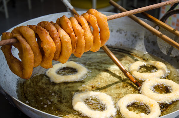 Picarones are a typical street food in Peru