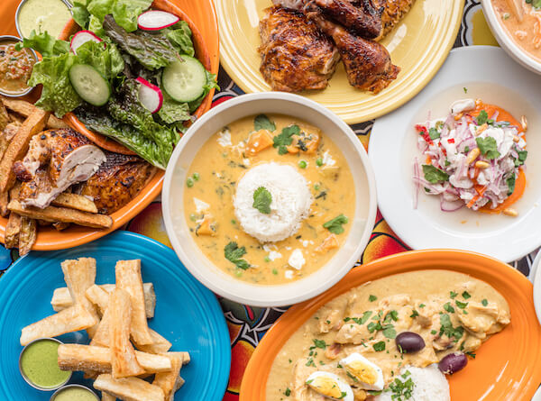 Typical Peruvian cuisine - various dishes
