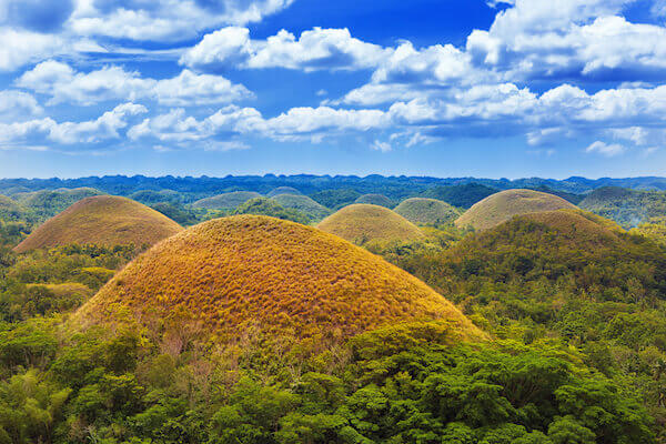 Chocolate Hill in the Philippines