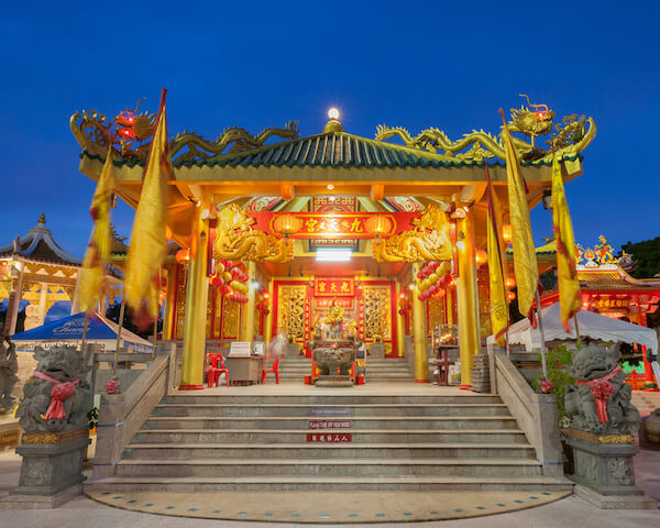 Decorated Chinese temple during the Phuket Vegetarian Festival