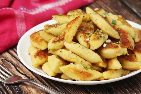 Polish potato dumplings called kopytka