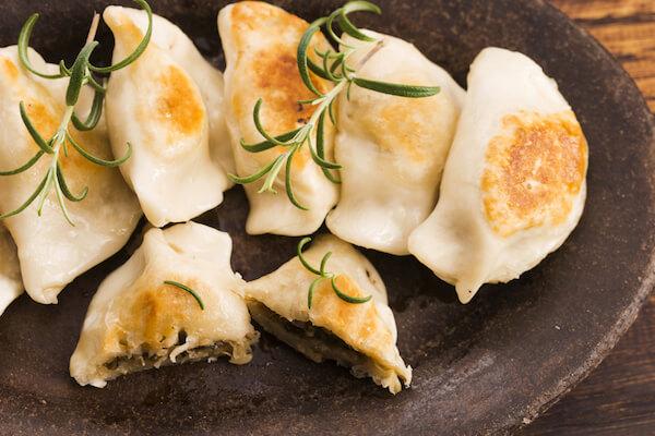 Polish food pierogi