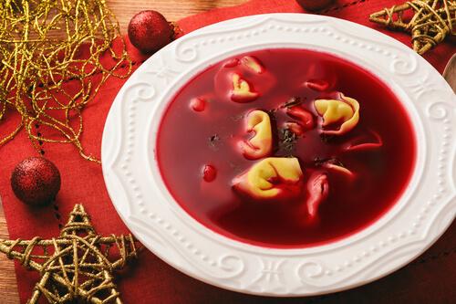 Polish beet root soup for Christmas Eve