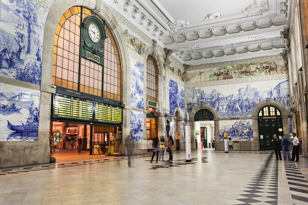 Portugal's São Bento Railway Station in Porto - image by  saiko3p/shutterstock.com