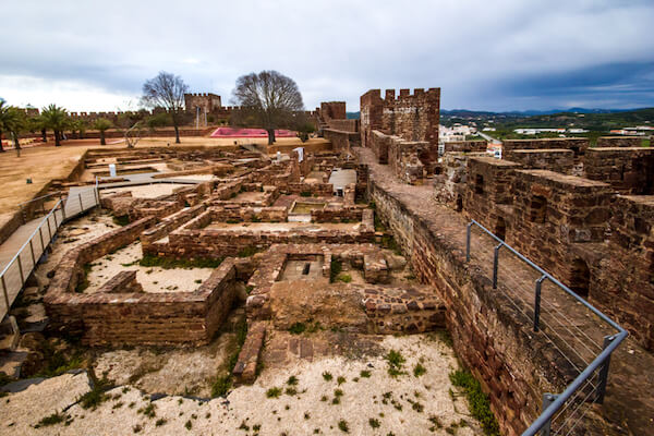 Silves castel ruins in Portugal