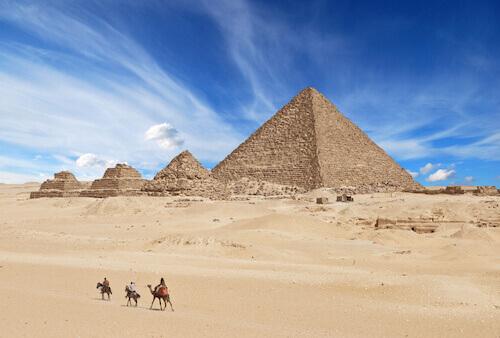 Pyramids of Giza in Egypt