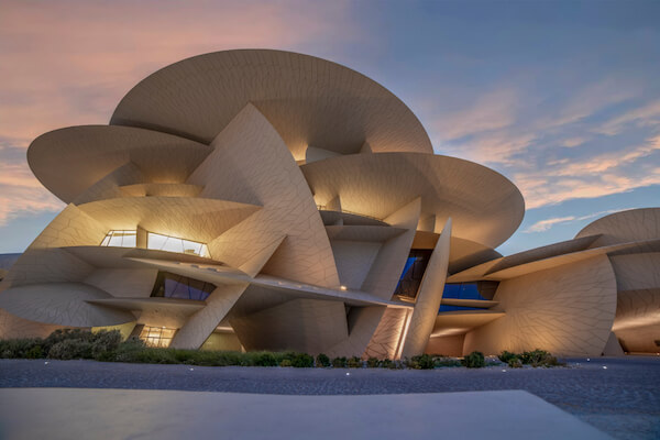 National Museum of Qatar - opened in 2019 - image by HasanZaidi/shutterstock.com