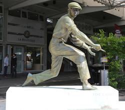 Rene Lacoste statue in Paris by Leonard Zhukovsky/shutterstock
