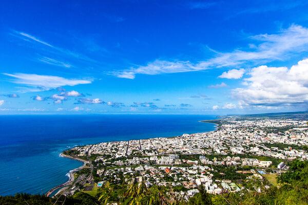 Panoramic views over Saint Denis/ Reunion island