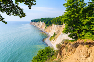 Cliffs in Ruegen, Germany