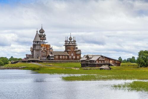 Karelia wooden church on Kizhi Island