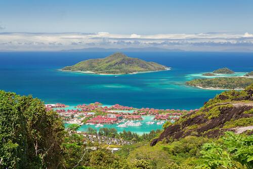 Eden Island on Mahé island in the Seychelles