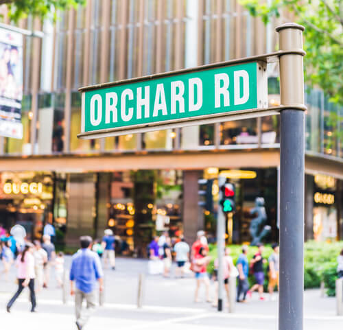 Singapore Orchard Road Sign