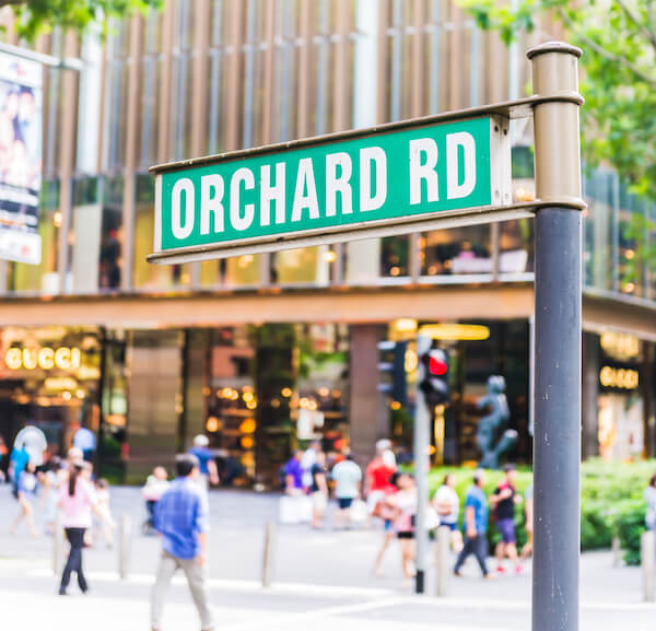 Singapore Orchard Road Sign - image by Shutterstock