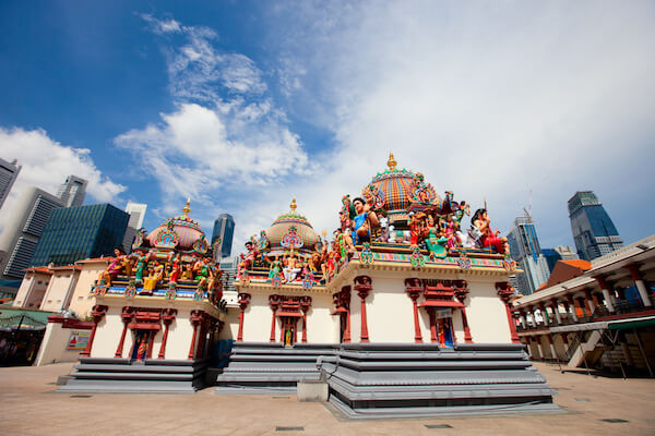 Singapore's Sri Mariamman Hindu temple