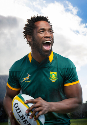 Siya Kolisi, former captain of the South African national rugby team 'The Springboks' - image by Danie Nel Photography/shutterstock.com