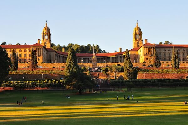 Union Buildings in Pretoria - which is one of South Africa's capital cities