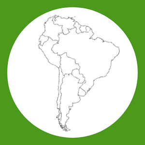 South America map outline