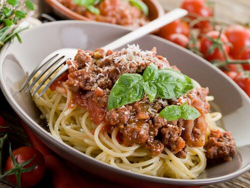 Spaghetti Bolognese dish