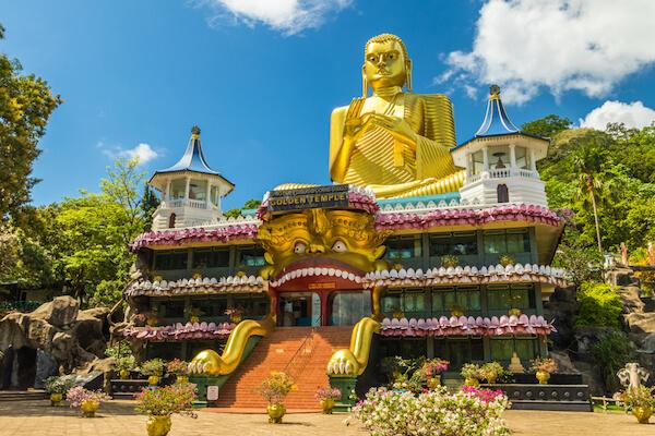 Golden Temple in Dambulla/Sri Lanka