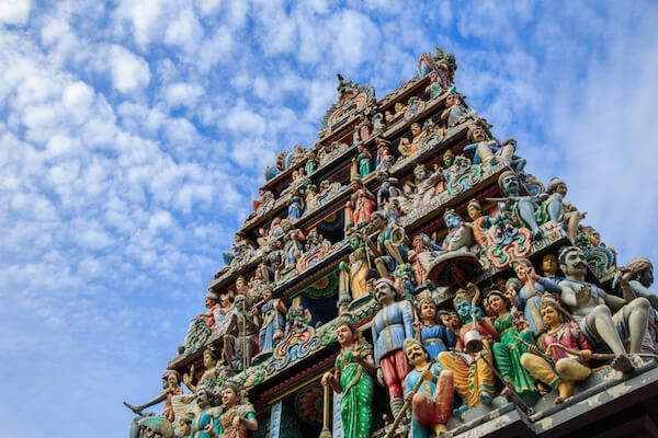 Sri Mariamman Temple in Singapore's China Town