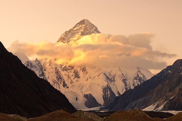 Sunset over K2