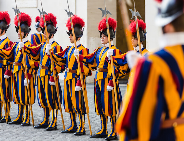 Swiss Guard - The Pope's Army - image by Drop of Light/Shutterstock